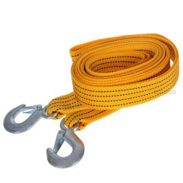 Трос буксир ST205/TP-205-3-1 3т лента 46 мм х 4,5 м  желтый/крюк/блистер