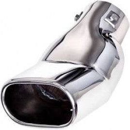 Насадка на глушитель НГ-0054, угол, внутр.d 64мм/дл. 190 мм /внеш.  69*117мм