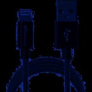 Кабель Grand-X USB-Lightning FL01NG MFI, 1,2m, серт доп.защита-оплетка