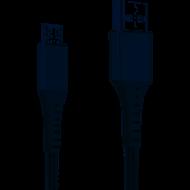 Кабель Grand-X USB-micro USB FM-12G 3A, 1.2m, Fast Сharge, Grey толст.нейлон оплетка, премиум BOX