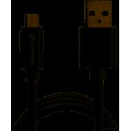 Кабель Grand-X USB-micro USB MM-01B Black 2.1A, 1m, 100% медь, защитное металлическое покрытие