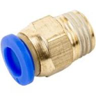 """Соединение цанговое для полиуретановых шлангов PU/PR 12 ммX1/4"""" SPC12-02 AIRKRAFT"""