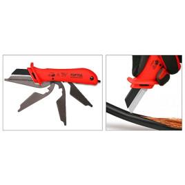 Нож кабельный изолированный 1000V VDE со сменным лезвием SFAC5018V4 TOPTUL