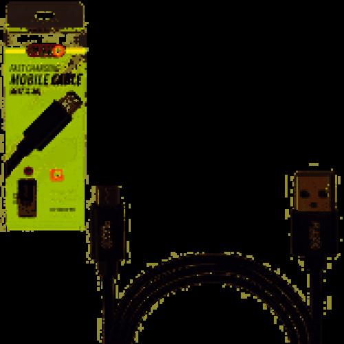 Кабель  PULSO USB - Micro USB 3А, 1m, black (быстрая зарядка/передача данных)
