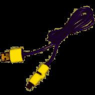 Кабель PULSO USB - Micro USB/Apple 1m yellow круглый