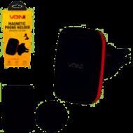 Держатель мобильного телефона VOIN UHV-5007BK/RD магнитный на дефлектор