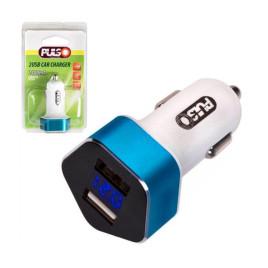 Автомобильное зарядное устройство PULSO C-2406 2USB (12/24V - 5V 2,4A) + вольтметр