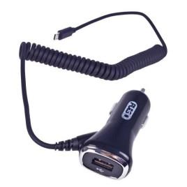 Автомобильное зарядное устройство PULSO C-2407BK 1USB+Android (12/24V - 5V 2,4A)