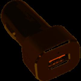 Автомобильное зарядное устройство Grand-X Quick Charge QС3.0 + cable USB-TypeC USB 3.0, 3A, 1m