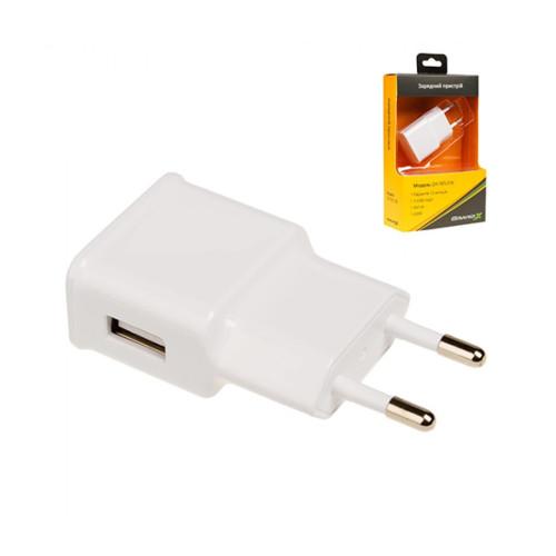 Зарядное устройство Grand-X CH-765W USB 5V 1A White с защитой от перегрузки